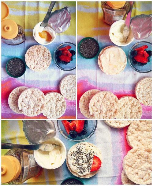 Бутерброды с рисовых хлебцов