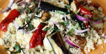 Теплый салат с кус-кусом
