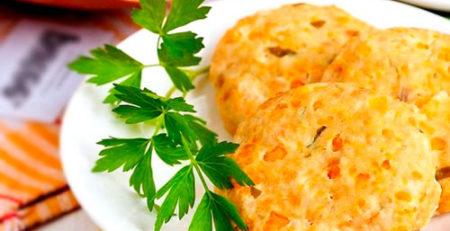 Рисовые котлеты с овощами